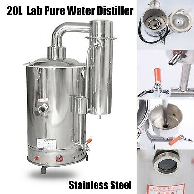 20L/H Lab Pure Water Distiller Stainless Steel Dental Durable Electric Hospital