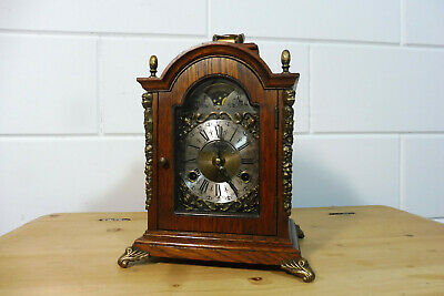 Warmink Wuba Table Clock Oak Wood Mantel Clock Dutch Clock