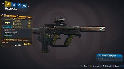 """Borderlands 3 """"Arctic Tamed Night Hawk"""" Anointed LVL 50 GOD ROLL XBOX ONE"""