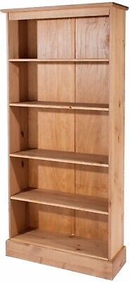 Cotswold Tall Bookcase - *FREE HOME DELIVERY* - ANTIQUE PINE
