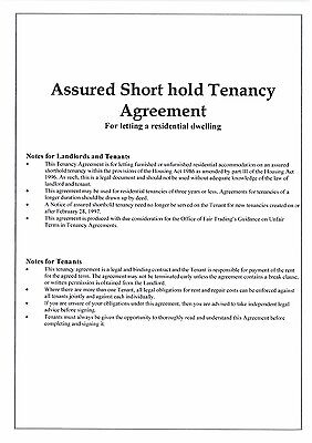 2 COPIES Landlord Assured Shorthold Tenancy Agreements 2020/21 CHEAPEST on eBay.