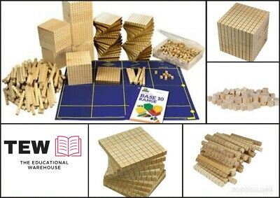 MAB Base Ten Maths Blocks Classroom Set 746p Wooden Place Value Teacher Resource