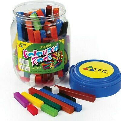 Cuisenaire Rods 155p in Jar Maths Teacher Resource Place Value Number Concepts