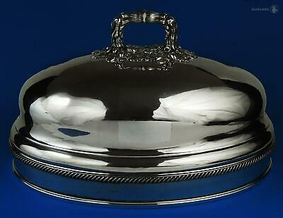 William IV OLD SHEFFIELD PLATE MEAT DISH DOME COVER c1836 Waterhouse Hatfield