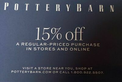 3 Pottery Barn Coupons 15% OFF Store & Online Exp: 02/29/20 ~*FAST SHIPPING!~*