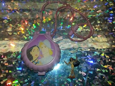 Vintage 1995 Polly Pocket Disney Pocahontas Once upon a Time Locket Necklace
