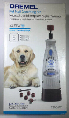 Dremel Cordless Pet Dog Nail Trimmer Clipper Grooming Kit Rotary Tool Grinder HQ