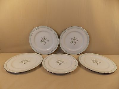 "Vintage Narumi China ""Southwind"" 5 Dinner Plates made in Occupied Japan"