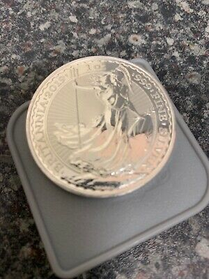 2019 1oz Silver Britannia Bullion Coin. New/Uncirculated. In Capsule.