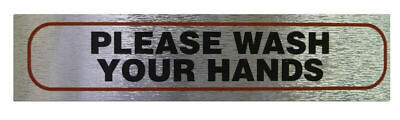 Weatherproof Info Signs 'Wash Your Hands' Neat Durable Door/Wall Notice Labels