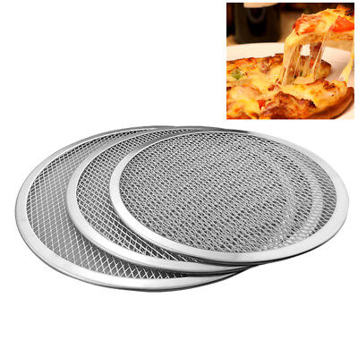 Wr_ Aluminium Alloy Mesh Pizza Screen Baking Tray Bakeware Plate Pan Net  Faddis