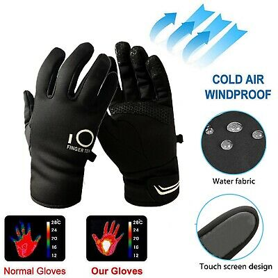 Mens Winter Gloves Waterproof Thermal Warm 3M Touchscreen Running Bike Ski Snow