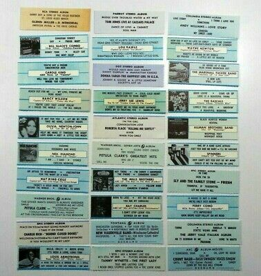 Lot of 124 Rare Vintage Jukebox 33 EP Title Strips For The Jukebox 45 RPM Record