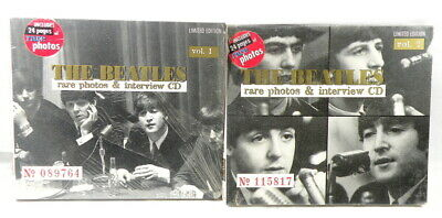 2 Sets:The Beatles Rare Photos & Interview CD Vols 1 & 2 New & Sealed & Numbered