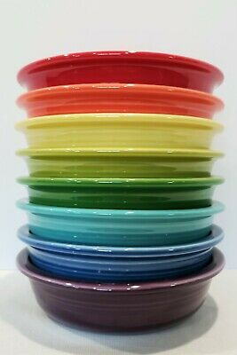 Fiesta Fiestaware, New 2nds, Lot of 8 Medium Cereal Side Bowls, Mixed Color Set