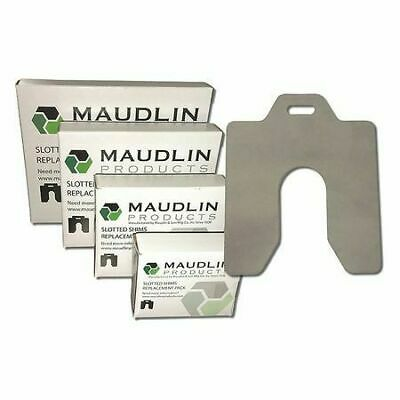 "MAUDLIN PRODUCTS MSA025-20 Slotted Shim A-2 x 2"" x 0.025"", Pk20 (S4PP)"