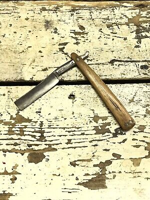 Early 1800s Wostenholm Razor with wood handle 11/16""