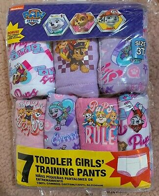 Toddler Girls' Paw Patrol Training Pants, Paw7 3T Machine Washable NEW Sealed