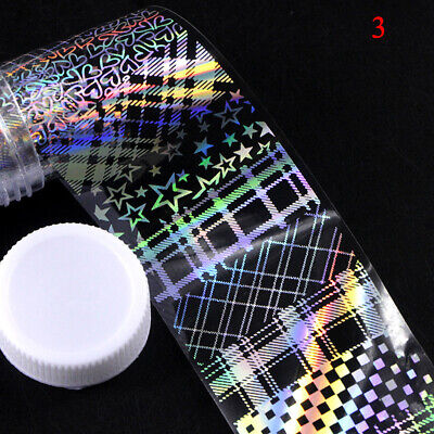 Hot 4*100cm/Roll Nail Foil Flame Nail Transfer Sticker Water Slide Nail Decals