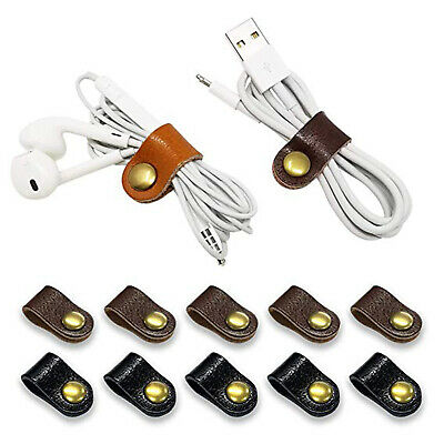 Leather Magic Reusable Hook and Loop Strap Phone Cord Wire Cable Ties Organiser