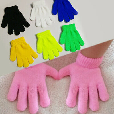 Child  Baby  1 PC knitting  Keep warm  Student    Magic gloves Solid color HOT