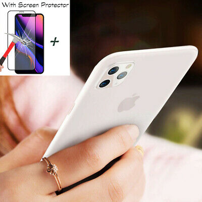 Ultra-thin 0.3MM Matte Clear Screen Protector Cover Case Fr iPhone 11 Pro Max XR