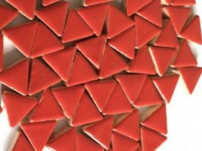 Red Ceramic Triangle - Mosaic Tiles Art Craft Supplies