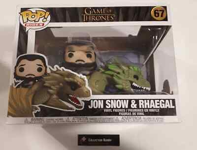 Funko Pop! Rides 67 Game of Thrones Jon Snow on Rhaegal Vinyl Action Figure Pop