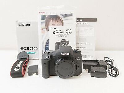 Canon 760D 24.2 MP Camera Body Only ~As New Condition