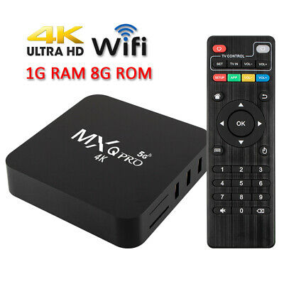 MXQ Pro 4K Ultra HD 64Bit Wifi Android 7.1 Quad Core Smart TV Box Media Player