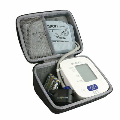 Hard Travel Case for Omron 3 Series Upper Arm Blood Pressure Monitor Shockproof
