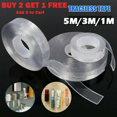5 Meter Nano Tape Transparent Traceless Double Sided Adhesive Washable Reusable
