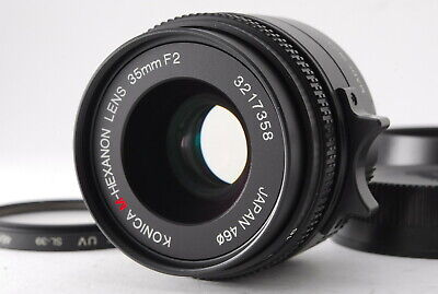[NEAR MINT] Konica M-Hexanon 35mm f/2 Lens for Leica M Mount from japan #379