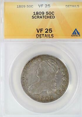 1809 Capped Bust Half Dollar ANACS VF25 Details  - *DoubleJCoins* 2006-58