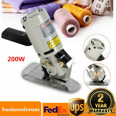 90MM Rotary Blade Electric Fabric Cutter Round Knife Cloth Cutting Machine 200W