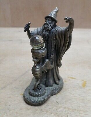 The Incantation Dragon Crystal Wizard Pewter Figure Tudor Mint 3001 Myth + Magic