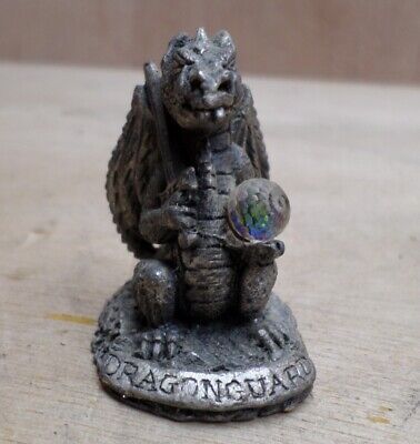 Mystic Legends Dragonguard Dragon Crystal Mini Pewter Figure Rare inc UK P+P