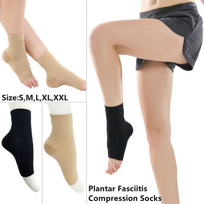 1 Pair Compression Ankle Sleeve Copper Infused Magnetic Foot Support Heel Socks