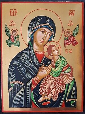 Our Lady of Perpetual Help Virgin Mary Icon Byzantine Style