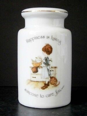 "COLLECTABLE VINTAGE HOLLY HOBBIE SINGLE ORPHANED PEPPER SHAKER ""Happiness is ..."