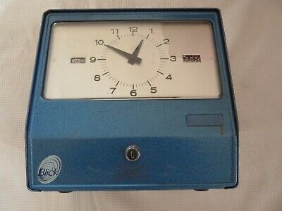 Vintage Blick Clocking-in Time Clock Theatrical Prop Industrial Decor