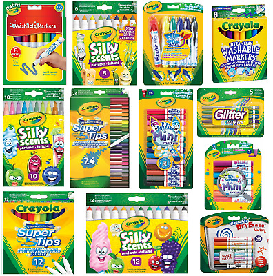 Crayola Markers - Washable,Board Line,Pipsqueaks,Supertips,Dry Erase,Flip Top
