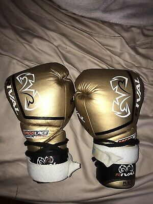 RIVAL RS1-PRO BLUE BOXING SPARRING GLOVES