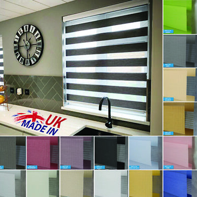 Premium Made to Measure Day and Night Vision/Zebra Window Cassette Roller Blinds