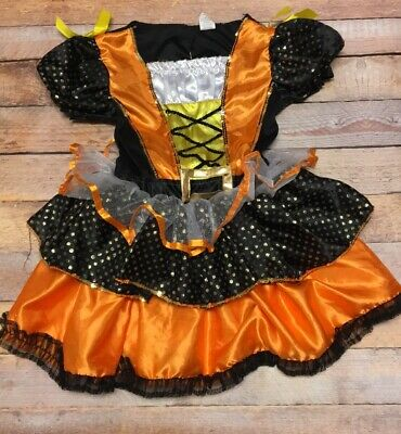Candy corn witch costume tutu dress halloween dance outfit size girls 4-6