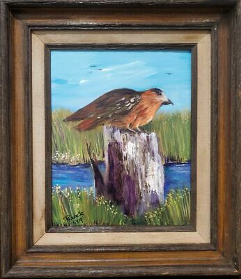 Original Florida Highwaymen Style Painting Red Tailed Hawk by Rochelle