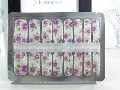 Color Nail Polish Strips Florals, Pearl, Glitter,Butterfly, Fish,Scales Nails