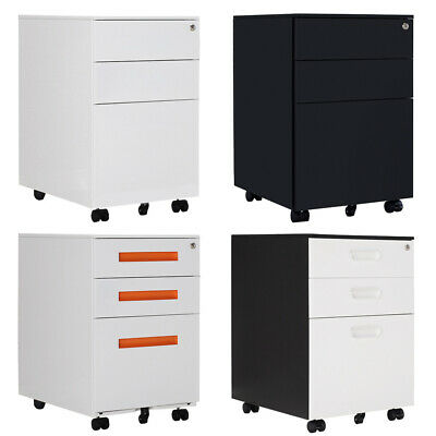 3 Drawers Filing A4 Storage Casters Office Mobile File Cabinet Filing Cabinets