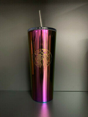 Starbucks Iridescent Rainbow Purple Stainless Steel Tumbler 24oz