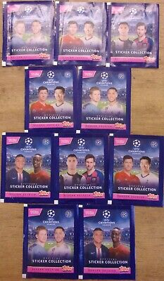 Uefa Champions League 2019/20 ~ Topps Sticker Collection 10 x Sealed packs